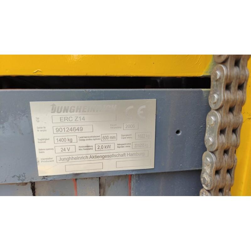 Штабелер електричний самохідний Jungheinrich EJC Z14 1.4т 2.48м