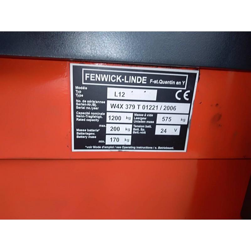 Штабелер електричний повідковий LINDE L12 1,2т 3.8м-висота підйому