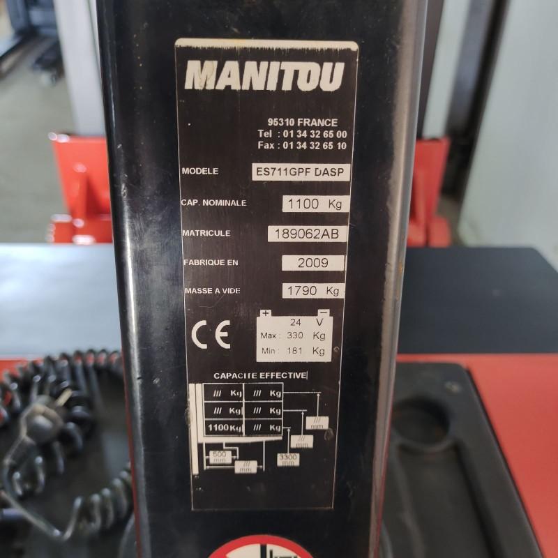 Штабелер електричний повідковий  MANITOU LOC  1,1 т  3,3 м-висота підйому.