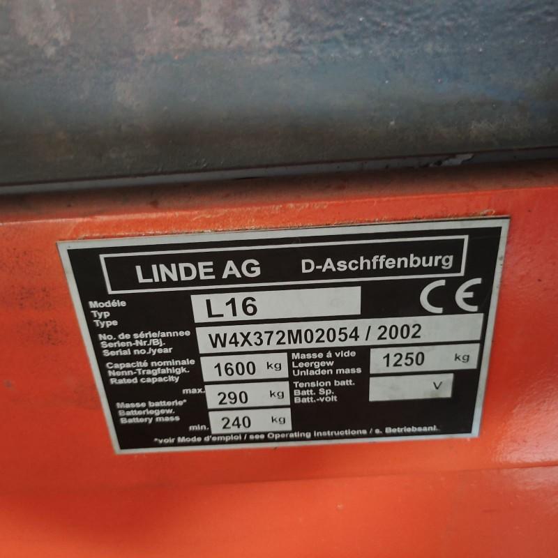 Штабелер електричний   LINDE L16 1,6т 2,91м