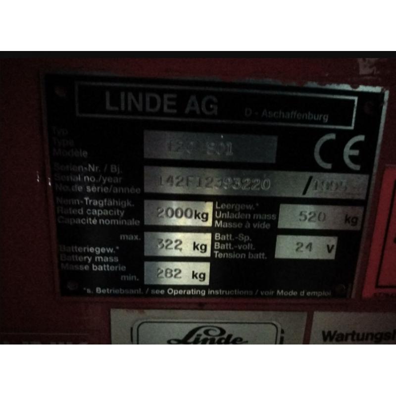 Електровізок штабелер LINDE T20 S01 2т