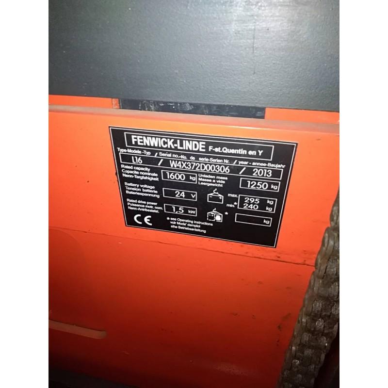 Б / У Штабелер електричний LINDE L 16 2013р  1,6т 3,78м
