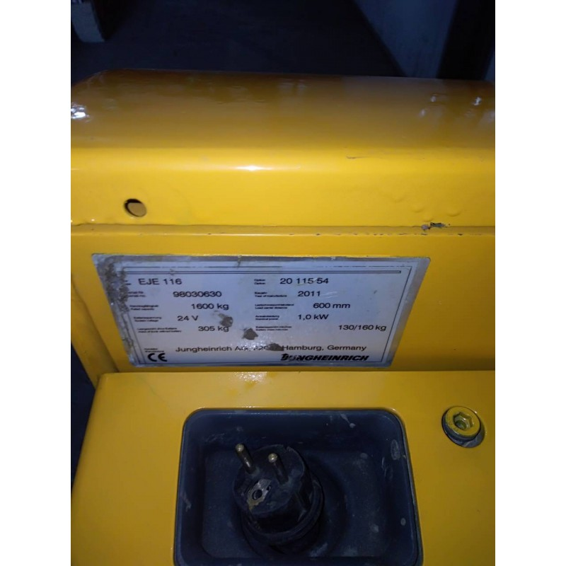 Самохідний електричний візок-штабелер  JUNGHEINRICH EJE 116 1600кг 2011р