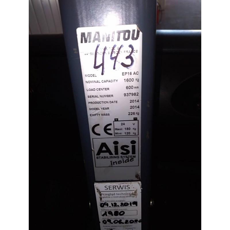 Б / У електровізок Manitou Loc  2014р 1600 кг