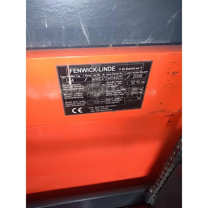 Штабелер електричний повідковий LINDE L14* 1,4т/2т 3,28м Хололдильник