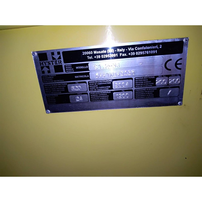 Штабелер електричний самохідний HYSTER 1.2 3.8м