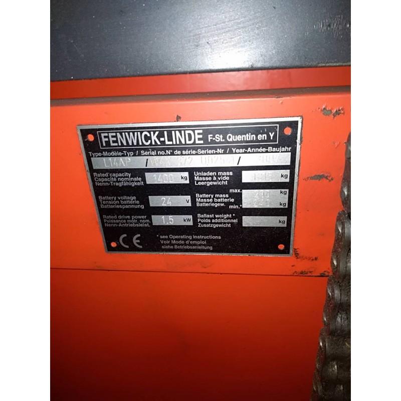 Штабелер електричний LINDE L 14 AP 1,4т 4.70м Нова АКБ