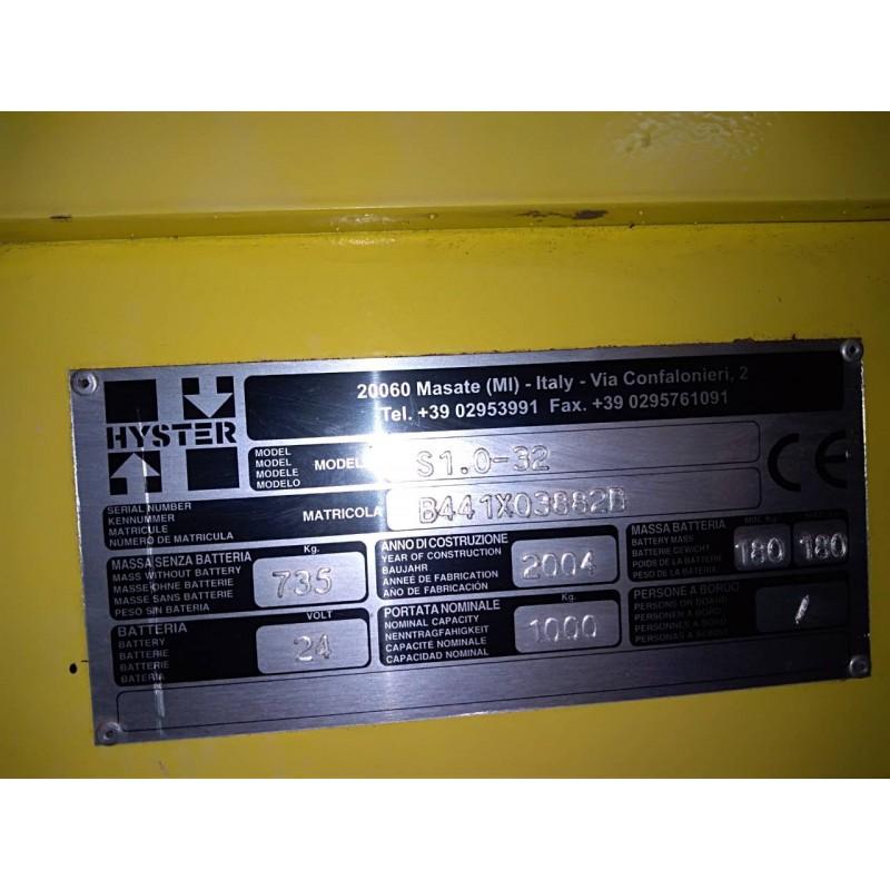 Штабелер електричний самохідний HYSTER 1.0 3.2м