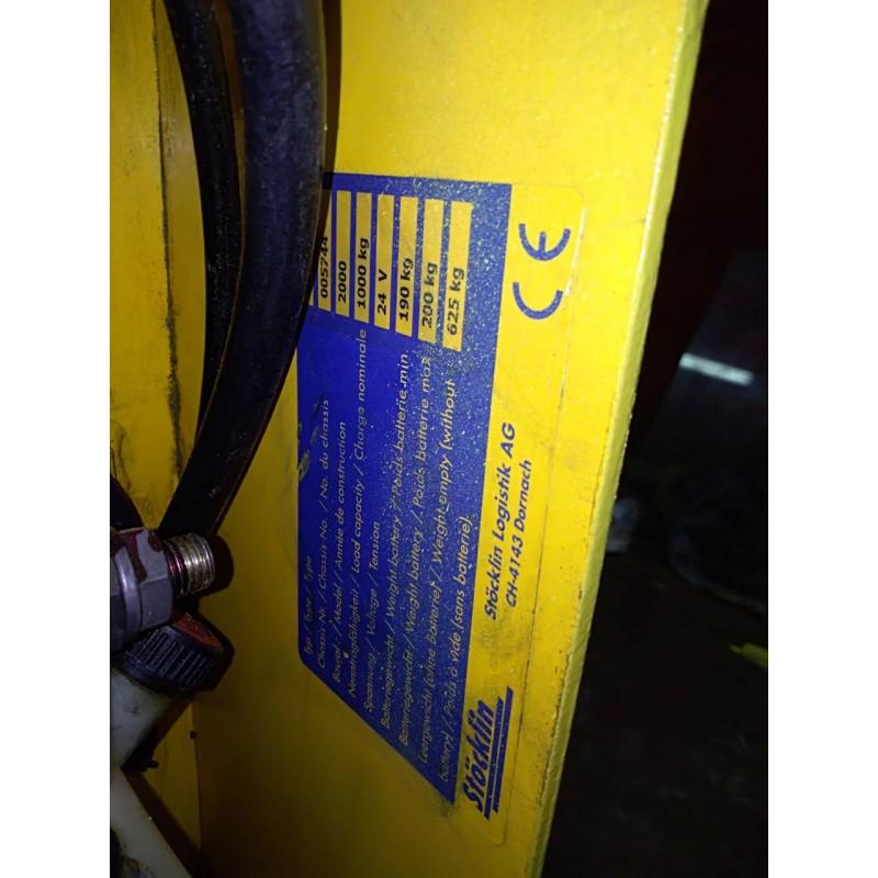 Штабелер электрический самоходный Stocklin 1000кг 3250мм