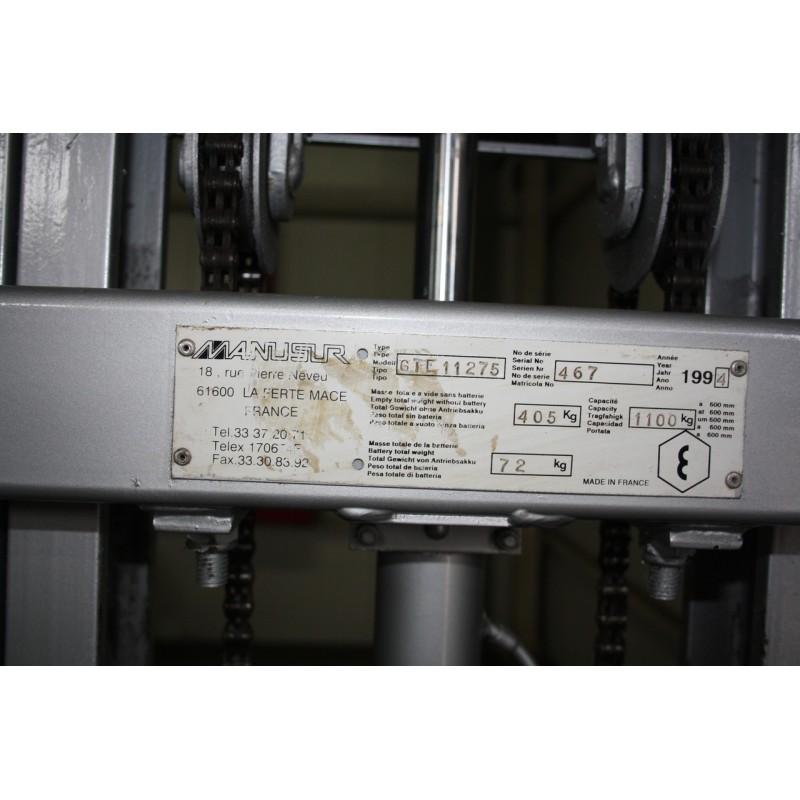 Штабелер електричний повідковий б / у Manusur 1200kg 270 m Батарея НОВА !!!