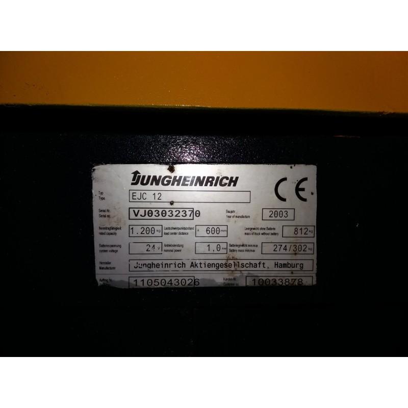 Штабелер електричний повідковий JUNGHEINRICH EJC 12 1,2 т 2,5 м 2014р-акамуляторние батарея