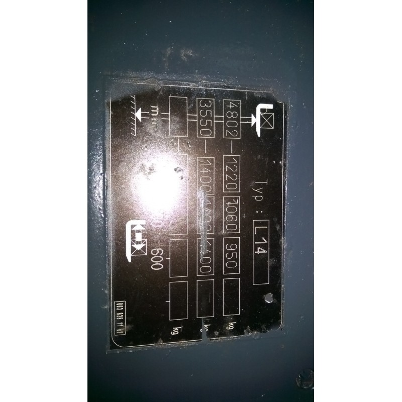 Штабелер електричний LINDE L14 тріплекс 1,4т 4,8м