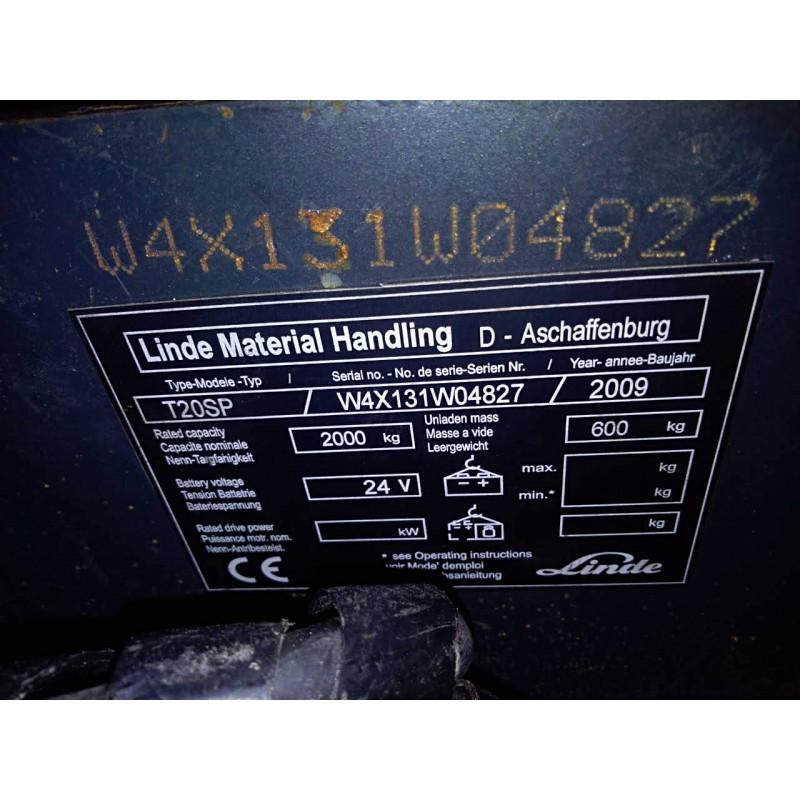 Б / У електровізок Linde T 20 SP 2000кг Гарантія