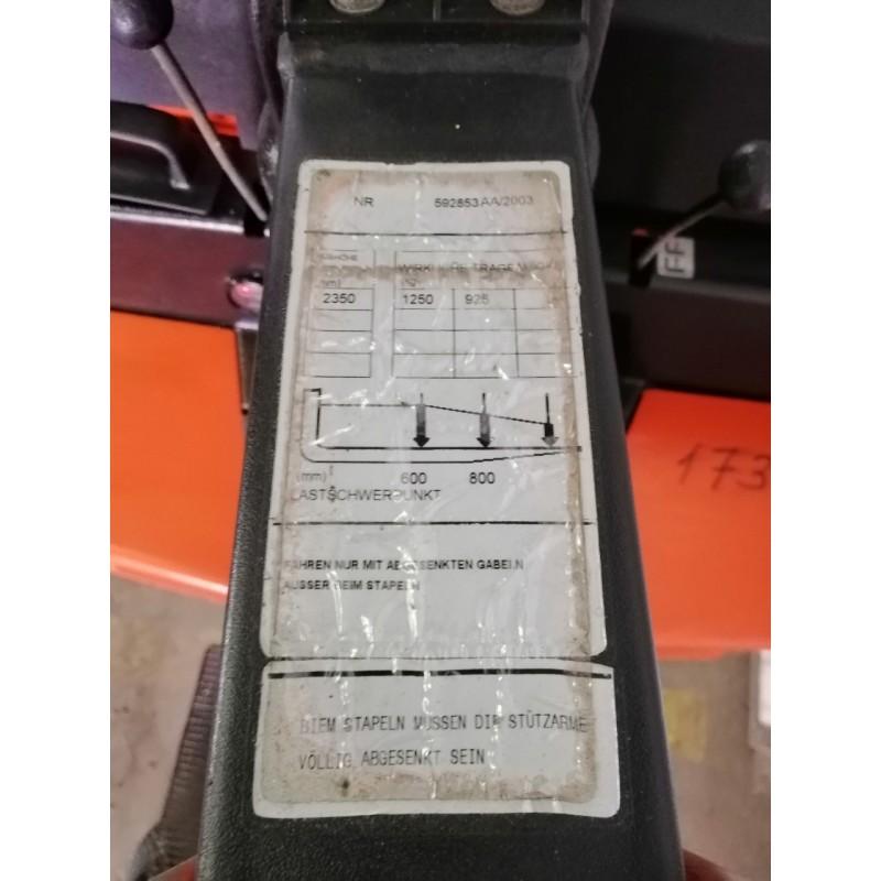 Штабелер електричний самохідний Toyota BT 1250 кг 2300 мм