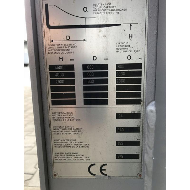 Штабелер електричний самохідний NISSAN 2т 4.5м