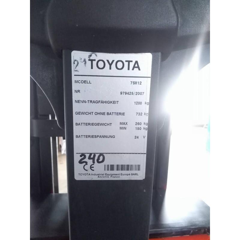 Штабелер електричний повідковий Toyota 7SM 12 2007р 1200кг 320см