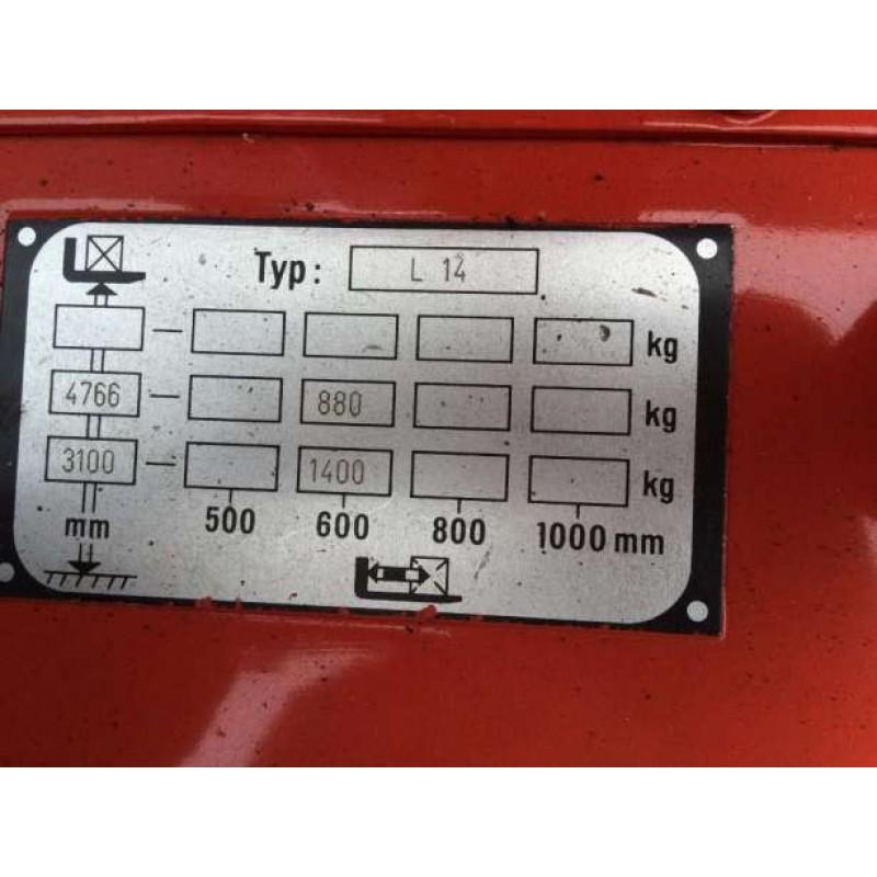 Штабелер електричний повідковий LINDE L14 тріплекс 1,4т 4,7