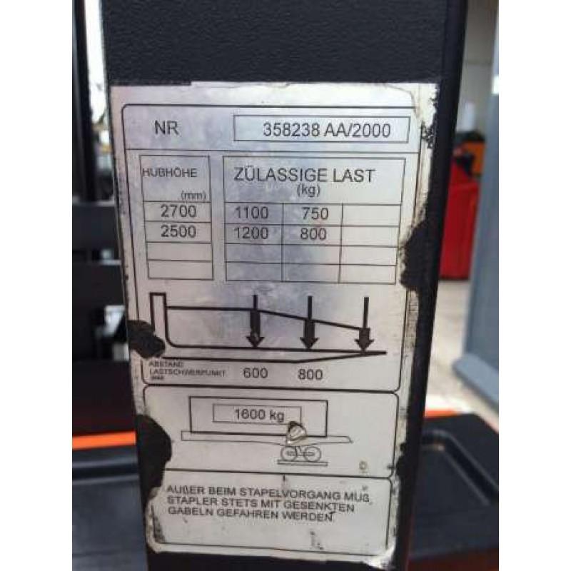 Штабелер електричний повідковий TOYOTA BT 1,2 т 2,7 м