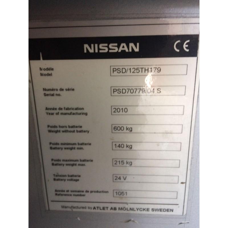 Штабелер електричний самохідний NISSAN PSD 2010р 1,25т 1.8м