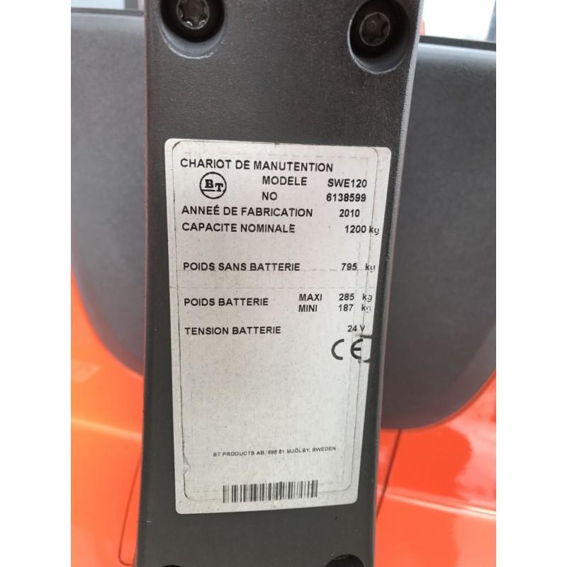 Штабелер електричний повідковий Toyota BT SWE 120 1,2 т 4.2м-висота підйому