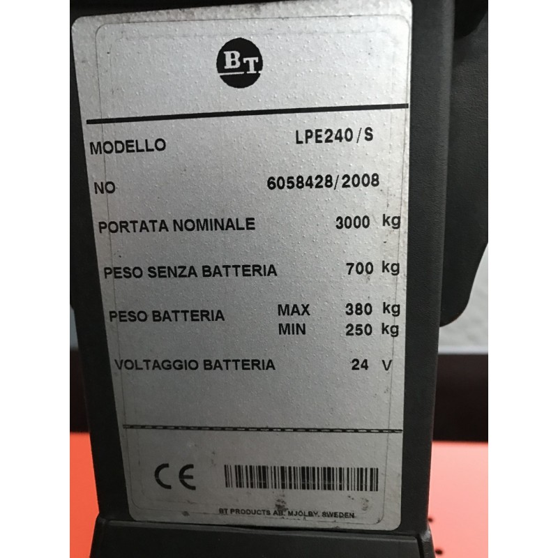 Електровізок TOYOTA BT LPE240 / S 2008 3 т Батарея 2013