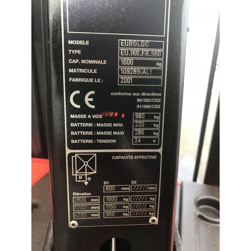 Б / У Штабелер електричний повідковий Manitou1,6 т 4.2 м