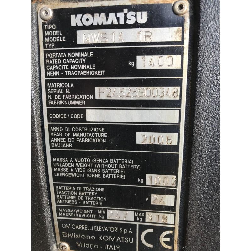 Б / У Штабелер електричний повідковий Komatsu 1,4т 5,00м