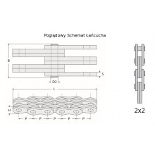 Ланцюг 2x2 LL1622