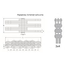 Ланцюг 3x4 BL634