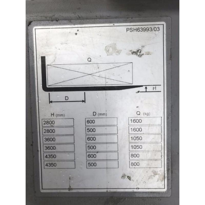 Штабелер електричний повідковий NISSAN ATLET PSH 160 2011р Батарея !!! 1600кг 435см