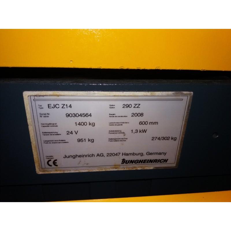 Штабелер електричний повідковий Jungheinrich EJC 14 1,4т 2,9м