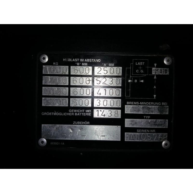 Штабелер електричний повідковий CROWN 2013 Батарея !!! 1,6 т 5.2м